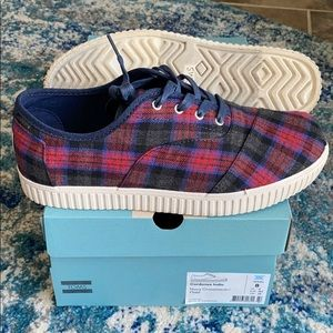 New plaid Toms cordoned sneaker.